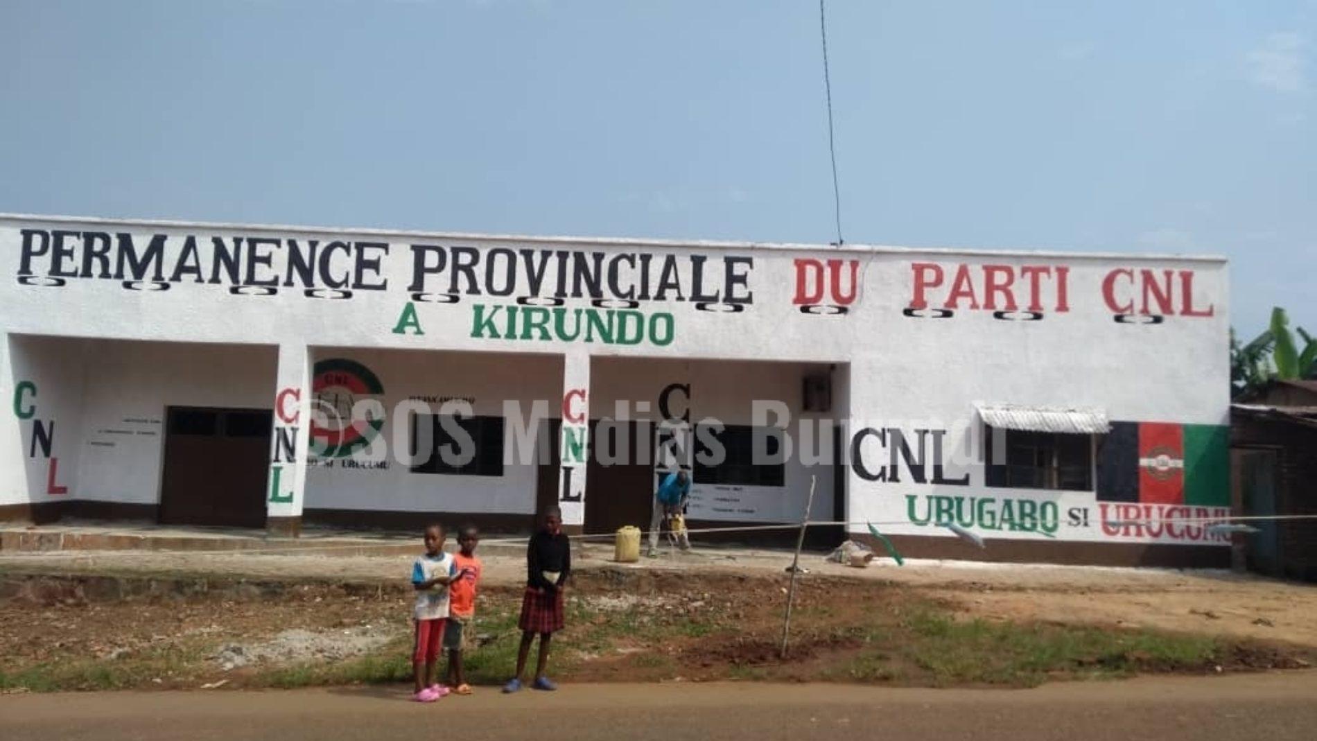 Bwambarangwe  (Kirundo) : 4 membres du CNL arrêtés par la police à l'intérieur de leur permanence