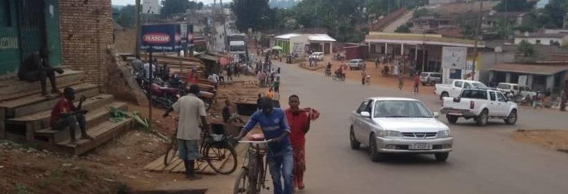 Rue commerçante de Kirundo