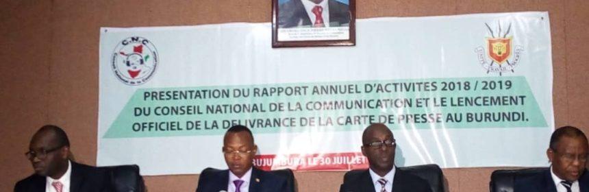 Burundi médias CNC