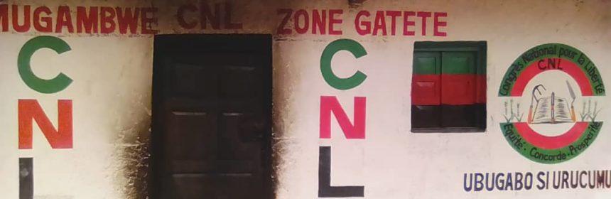 Burundi Rumonge Gatete CNL