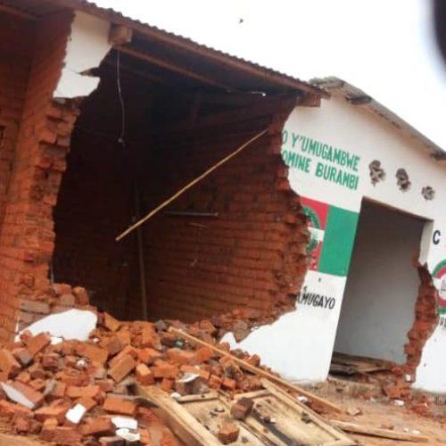 Rumonge : Une sixième permanence du CNL démolie