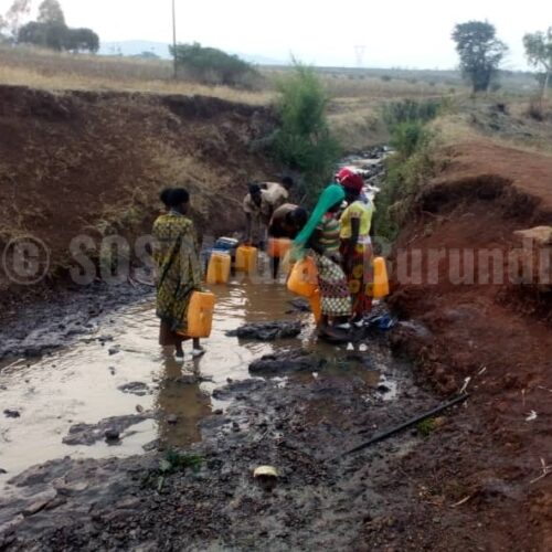 Rugombo (Cibitoke) : Manque criant d'eau potable