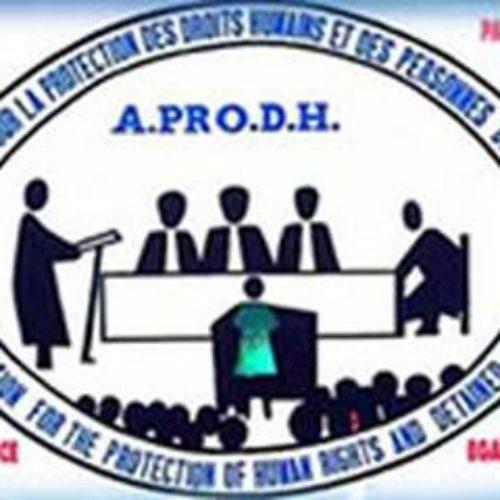 APRODH s'inquiète de la situation sécuritaire et des droits humains