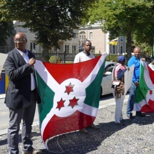Manifestation à Bruxelles contre l'expulsion des réfugiés burundais de Tanzanie