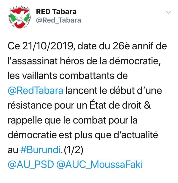 Bubanza, Red, Tabara, SOS Médias Burundi