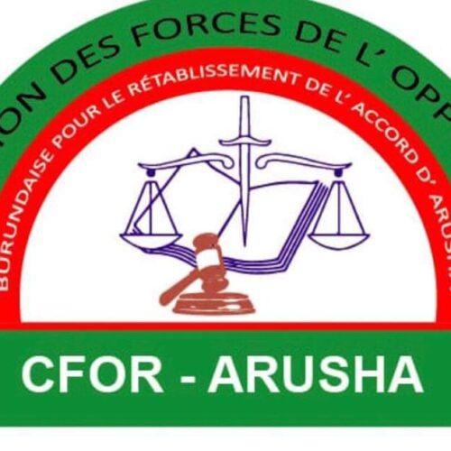 Burundi: la coalition CFOR-ARUSHA exige un dialogue inclusif pour trouver une solution à crise burundaise