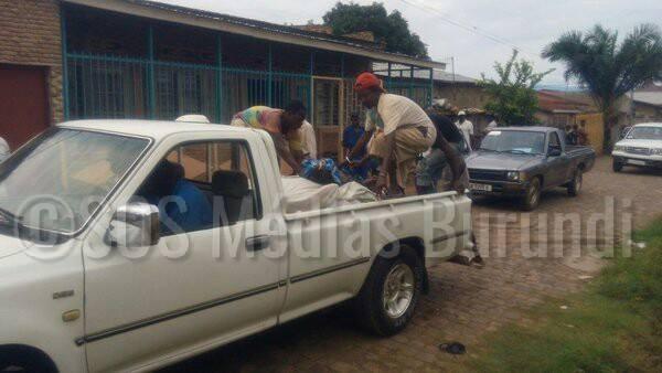 Selon   des témoins  au sud de Bujumbura, les corps sans vie ont été transportés par ce véhicule, vers une fosse commune