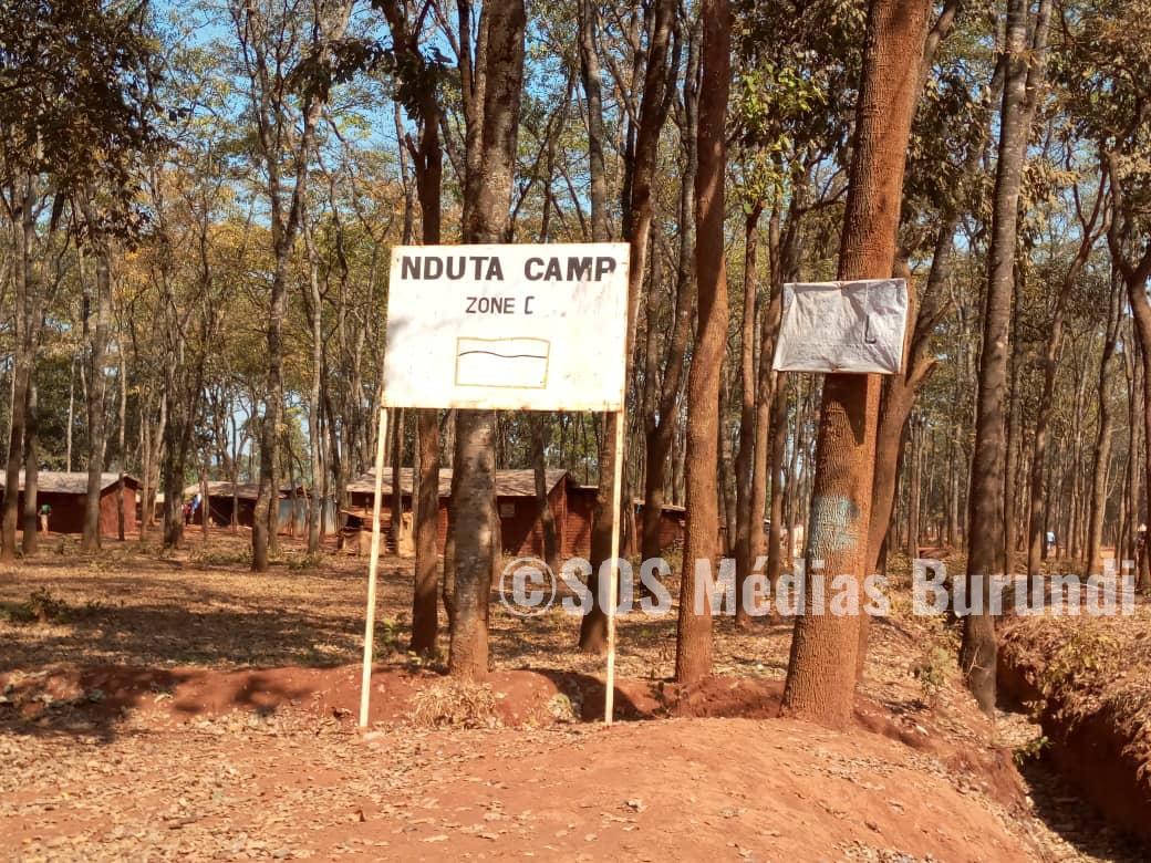 Une pancarte de la zone C du camp de Nduta