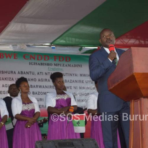 Le président Nkurunziza annonce dans une croisade que son successeur aura moins de soucis à gouverner