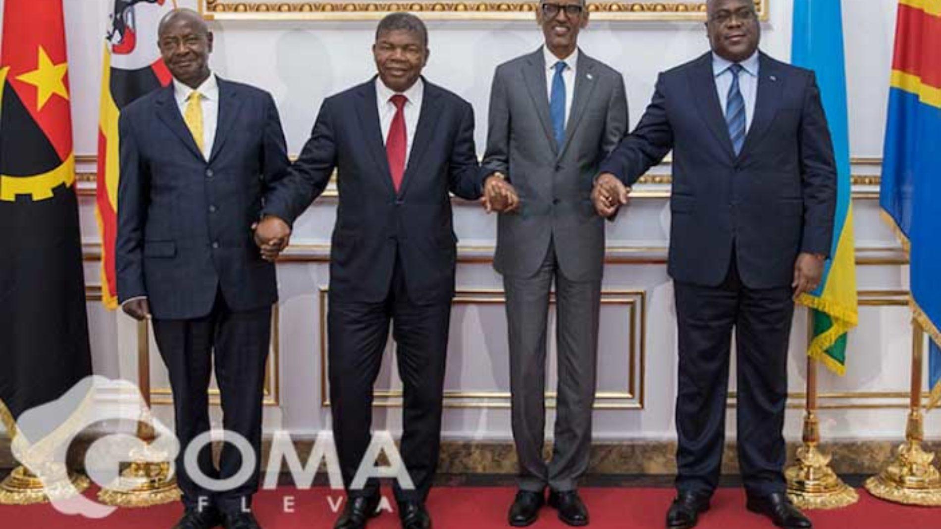 Goma : Félix Tshisekedi confirme la tenue d'une réunion entre Paul Kagame, Yoweri Museveni, Joao Lourenço et Evariste Ndayishimiye