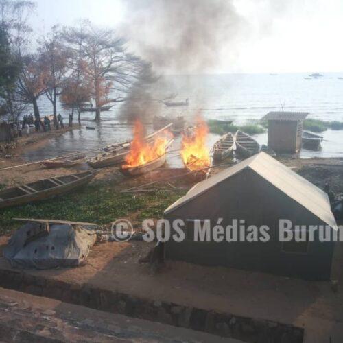 Rumonge: deux individus arrêtés, leur bateau détruit