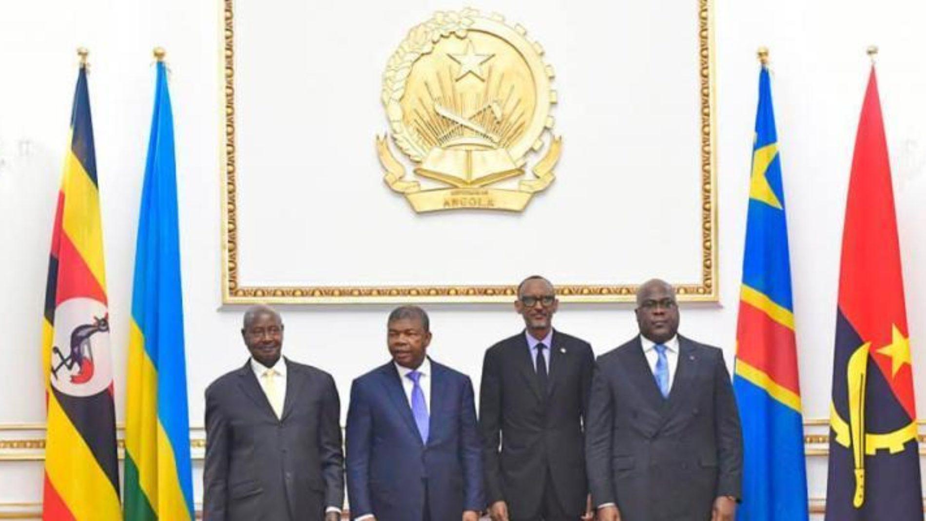 Mini-sommet de Goma : Tshisekedi, Kagame, Museveni et Lourenço réaffirment la volonté de conjuguer d'efforts visant à éradiquer les groupes armés dans la sous-région des Grands Lacs