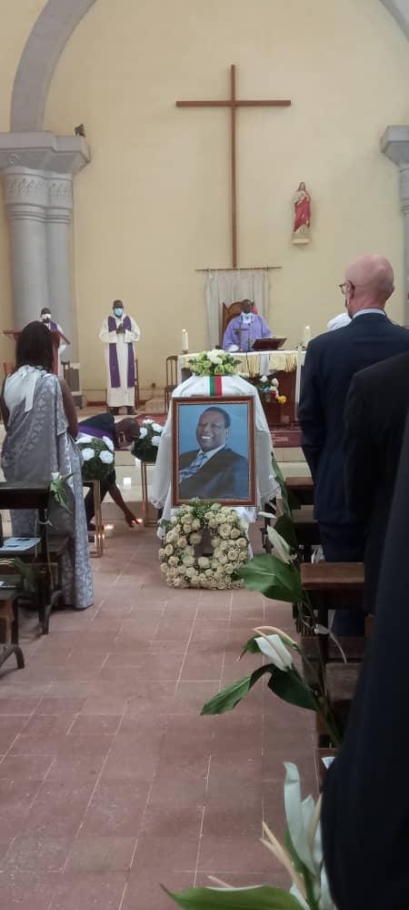 Effigie de Pierre Buyoya à la grande cathédrale de Bamako, le 29 décembre 2020 (photo DR)