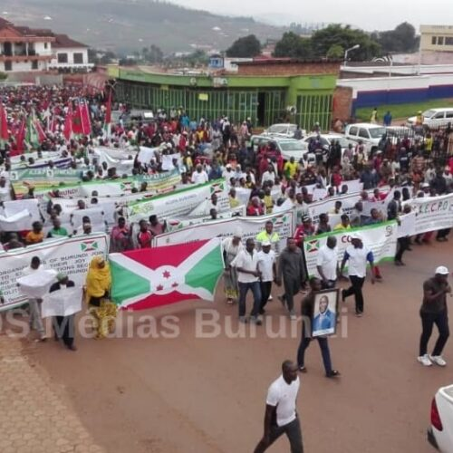 Burundi-ONU : une marche manifestation pour remercier l'ONU
