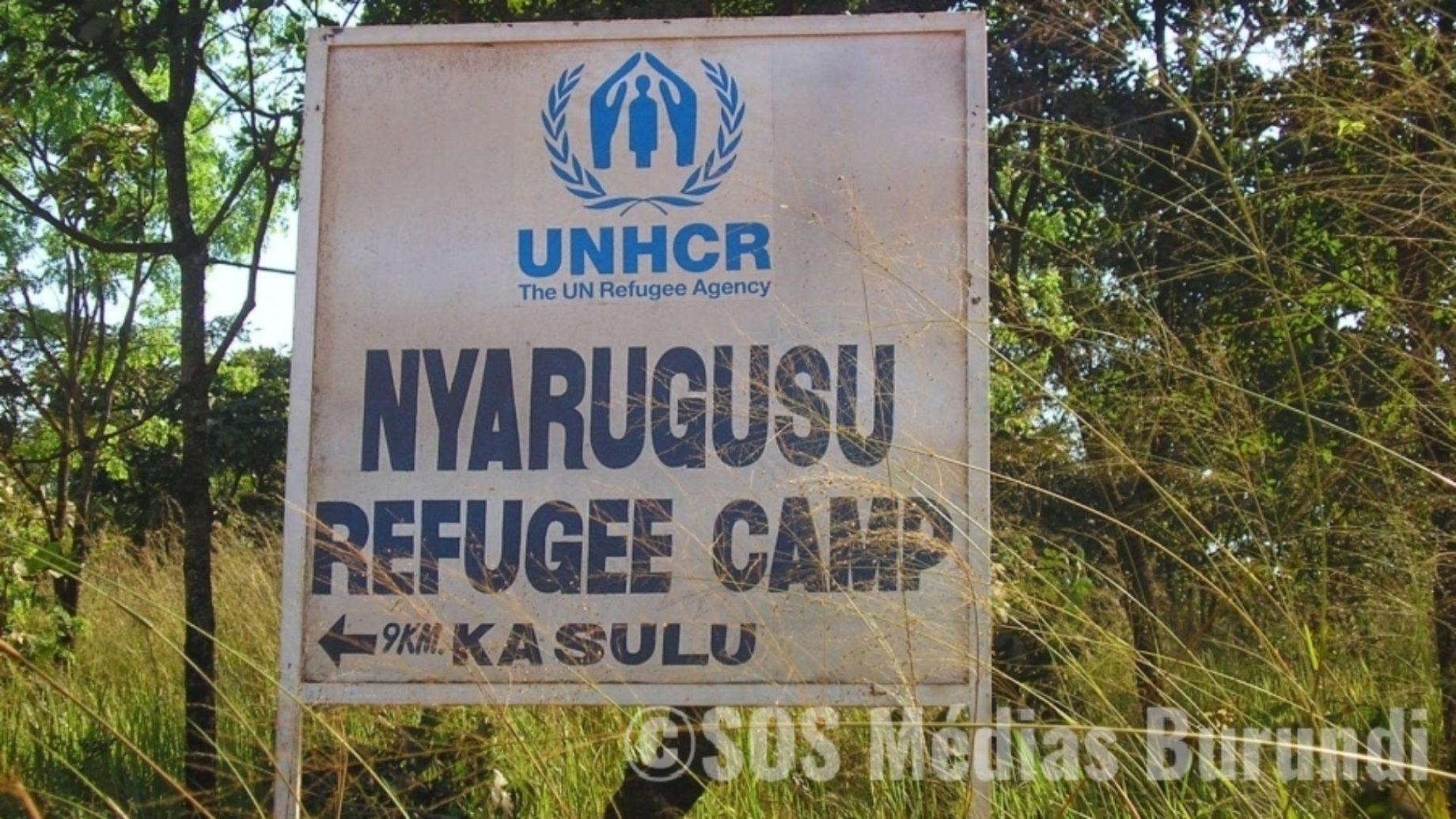 Pancarte du camp Nyarugusu