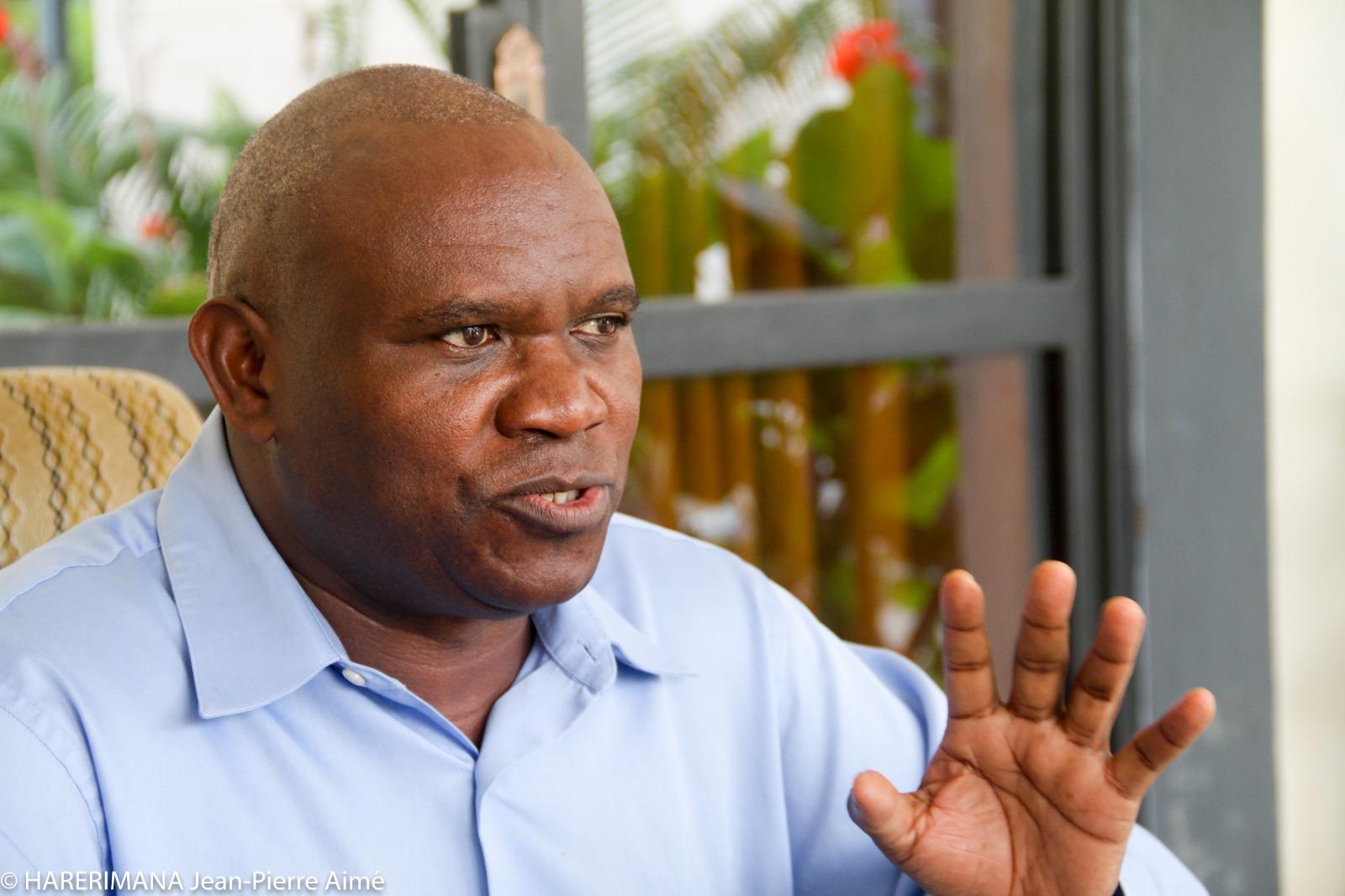Frédéric Bamvuginyumvira, ancien vice-président de la République du Burundi et actuel leader de l'opposition, président de la coalition CFOR Arusha.