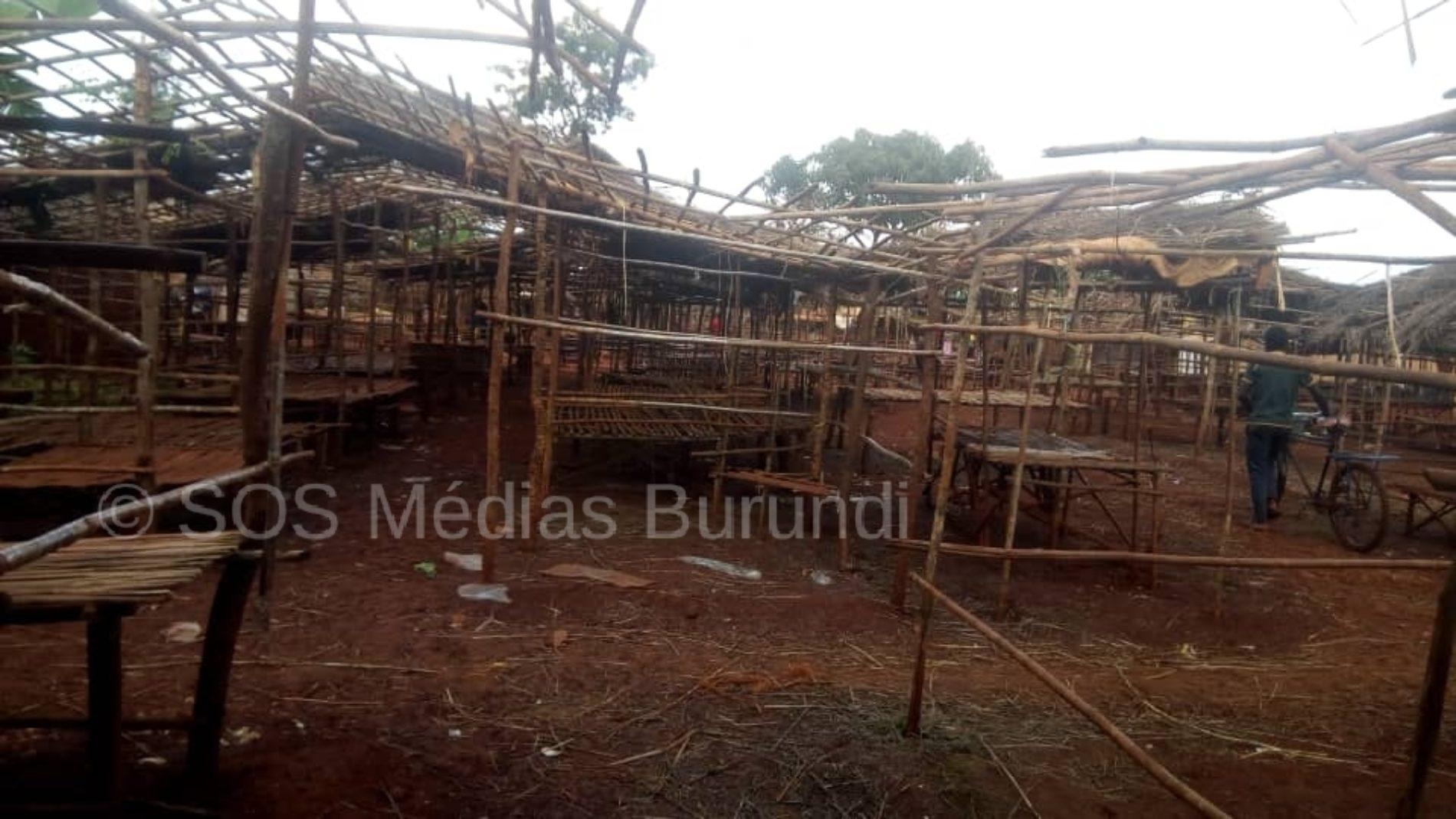 Nyarugusu (Tanzanie) : le marché central fermé