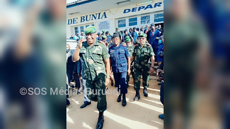Arrivée du nouveau gouverneur de l'Ituri à l'aéroport de Bunia